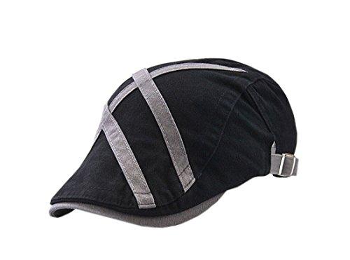 Voyage Acvip béret Unisexe Outdoor chapeau Noir Casquette Plate Visière rzz7xwnRqC