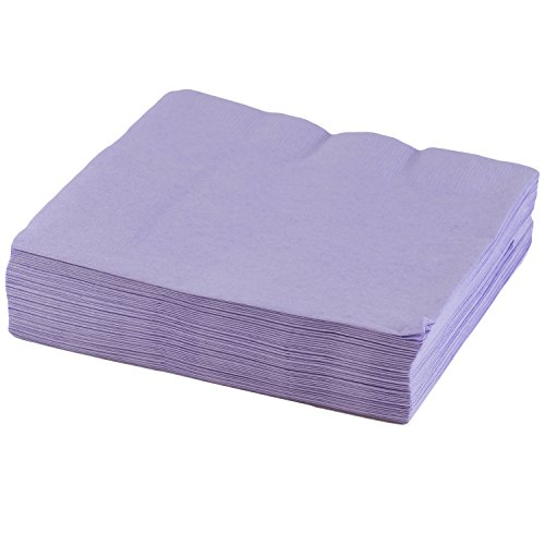 (JAM PAPER Medium Lunch Napkins - 6 1/2 x 6 1/2 - Lavender Purple -)