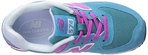 New Balance Mädchen 478150-43 Schuhe mit Schnürung, Blau Bleu (Blue/Pink/437)