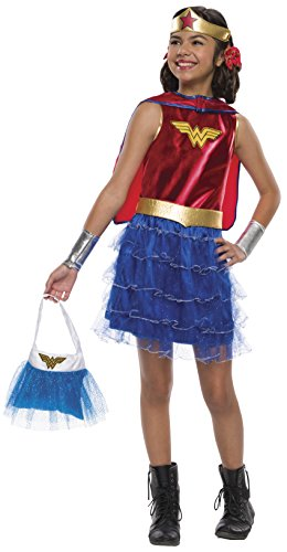 Wonder Woman Tutu Dress Costume with Purse (Wonder Woman With Tutu)