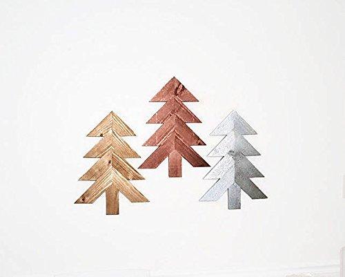 Amazon Com Wood Chevron Trees 3 Pc Set Wooden Christmas Tree Wall