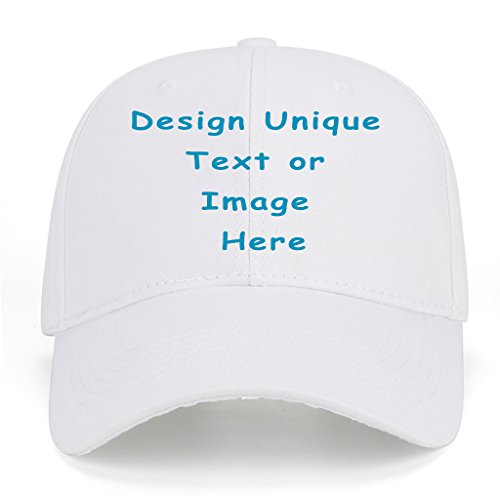 Men Women Sports Hat Add Your Personalized Design Adjustable Baseball Caps