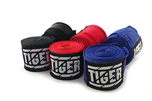 Tiger Professional Boxing Hand Wraps 180 Inch for Kickboxing MMA Muay Thai