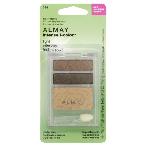 Almay Intense i, Color Eye Shadow Trio Green Eyes (034),1Ea