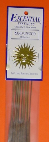 Sandalwood - Escential Essences Incense - 16 Sticks