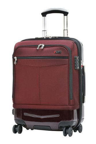 Ricardo Beverly Hills Luggage Rodeo Drive 21-Inch 4-Wheel Expandable Hybrid Wheelaboard, Black Cherry, One Size