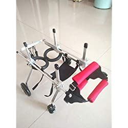Dog Pet Wheelchair Dog Wheelchair - For most dogs 0-50 kg - Veterinarian Approved - Rear Support Wheelchair - For Pet/Cat Dog Wheelchair Hind Leg Rehabilitation for Handicapped Dog, 4 wheel scooter Do