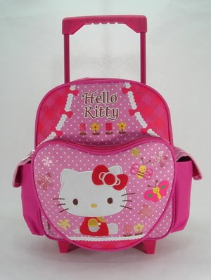 Small Rolling Backpack - Hello Kitty - Garden