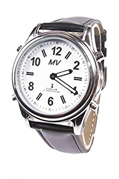 Sprechende Funk-Armbanduhr Damen & Herren Lederarmband Stile Damenuhr