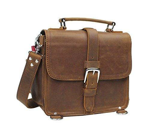 Vagabond Traveler 11'' Cowhide Oil Tanned Leather Motorcycle Camera iPad Case L17. Vintage Brown by Vagabond Traveler