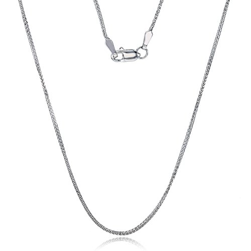 14k White Gold DC 1.37mm 025 20'' Triple Spiga Chain by Decadence