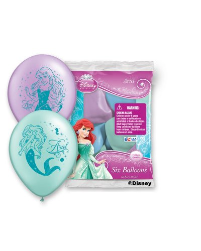 """Pioneer National Latex Ariel 6 Count 12"""" Latex Balloons, Ass"""