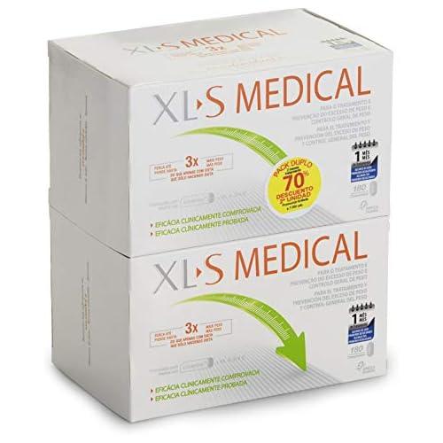 chollos oferta descuentos barato XL S Medical Captagrasas para Perder Peso Capta 28 de la Grasa Ingerida1 Comprimidos para Adelgazar Pack 2 x 180 Comprimidos 2 Mes de Tratamiento