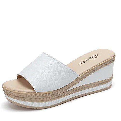con tacón nbsp;colores exteriores Zapatillas zapatos option de Pantuflas 37 Zapatillas en b talla verano la Pantuflas femenino el A con moda 2 con facultative antideslizantes gruesa y ZwqwTHx5P