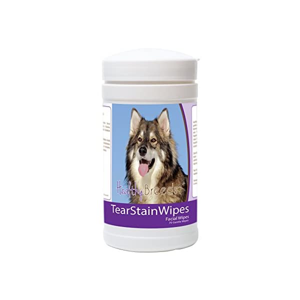 Healthy Breeds Dog Tear Stain & Facial Wipes - Over 200 Breeds - Fragrance Free - 70 Wipes 1