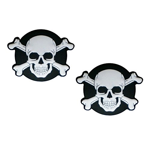 Racket Expressions Oversized Skull Tennis Vibration Dampener 2-Pack by (Dampeners Vibration)