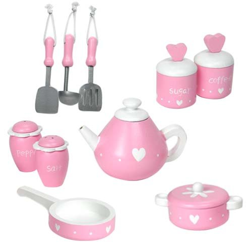 18 Inch Doll Kitchen & Accessories, Perfect For American Girl Dolls Furniture & Larger, Sized