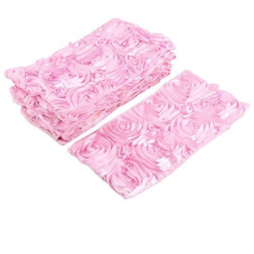 eDealMax Banquet de Mariage élastique Fleurs Chaise Design Couverture Bow Seat Sash Décoration Rose ()