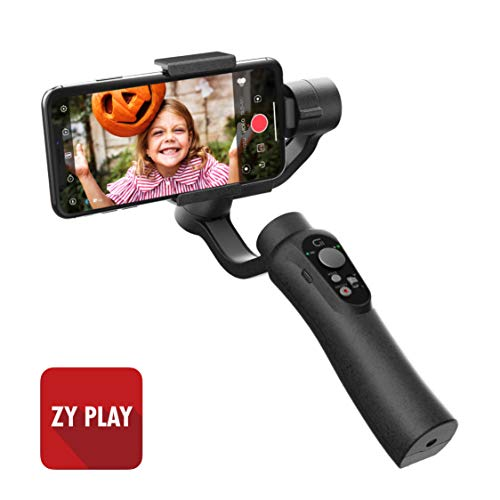 CINEPEER 3-Axis Phone Gimbal Stabilizer for iPhone Android, ZY Play App Support, Video Stabilizer for iPhone/Android with Object Tracking, Panorama, Time-Lapse and More - CINEPEER C11