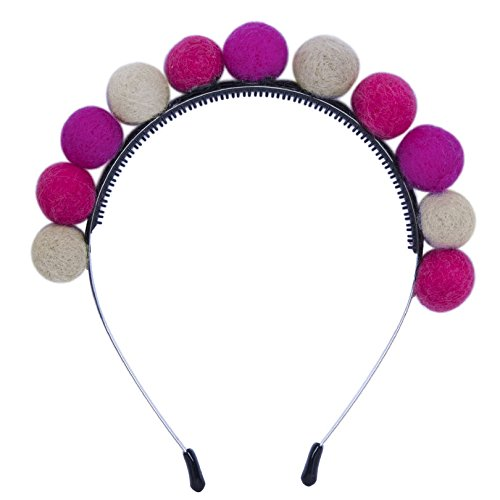 Special Beauty Nice Headbands Wool Pompom Spring Hair Accessories for Girls Fashion Women Hair Ball Cute Children Hairbands Headwear as show