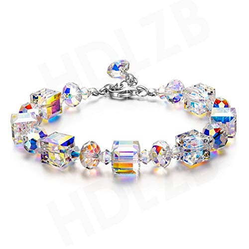 (Delicate:Fashion S925 Sterling Silver Crystal Sugar Bracelet Women's Personalized Custom Cross-Country Exclusive,Czechcrystal)
