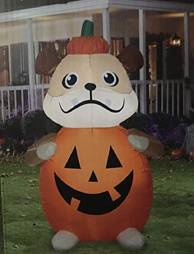 Halloween Inflatable 4' Pumpkin Puppy Dog Airblown Decoration
