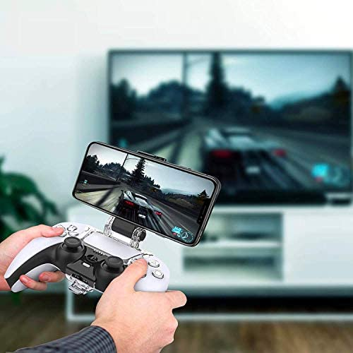 ORZLY PS5 CONTROLLER MOBILE GAMING CLIP, DUALSENSE CONTROLLER PHONE MOUNT ADJUSTABLE PHONE HOLDER CLAMP COMPATIBLE WITH PLAYSTATION 5 DUALSENSE CONTROLLER