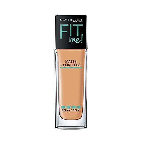 Maybelline New York Fit Me Matte + Poreless Liquid Foundation Makeup, Golden Caramel, 1 fl. oz. Oil-Free Foundation