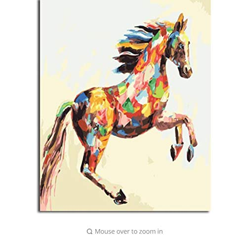 LIWEIXKY Bild Moderne Moderne Moderne Bilder Malen Nach Zahlen DIY Ölgemälde Auf Leinwand Home Decor Von Tier - Mit Rahmen - 40x50cm B07PSJZZLY | Wirtschaft  6611da