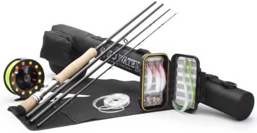DELUXE Wild Water Fly Fishing Complete AX910-090-4 Starter Package (Saltwater Fly Assortment)