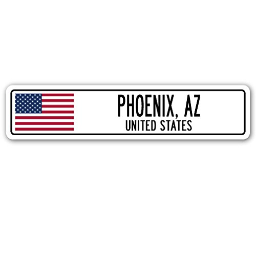 Phoenix, AZ, United States Street Sign American Flag City Country Gift