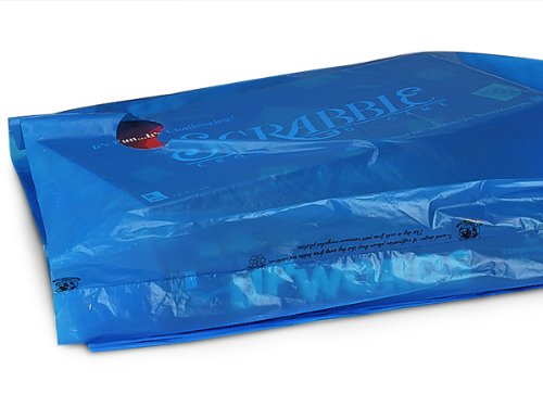 Pack Of 500, 16 x 4 x 24'' Solid Medium Blue Hi-D Recycled Plastic Bags W/Handles .75 Mil Made In Usa