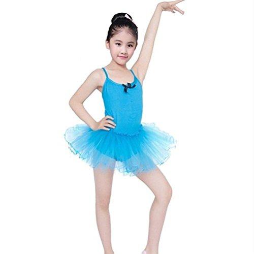 Doric Toddler Girls Tutu Tulle Party Dance Ballet Kids Solid Color Costume (Funky Dance Costumes Uk)