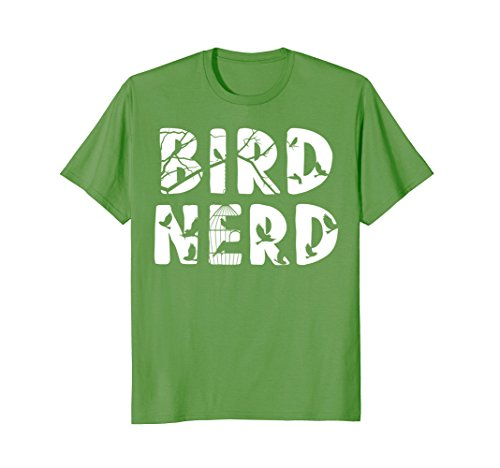 Mens Bird Nerd Funny T-Shirt Birdwatching Shirt Ornithologist Tee Large Grass