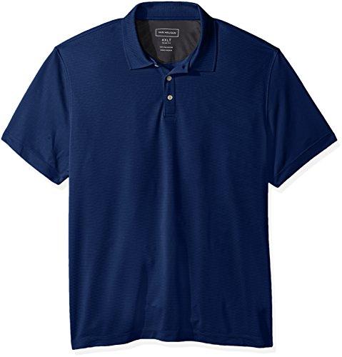 Van Heusen Men's Air Short Sleeve Polo, blue depths, 4X-Large Tall Slim -