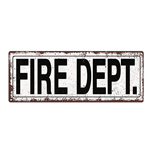 mdrqzdfh Fire Dept Metal Street Sign Rustic Vintage