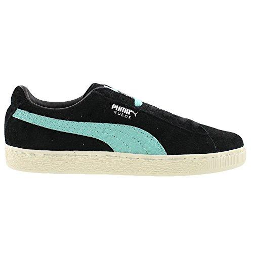 Puma Diamant Mens Lila Mocka Snörning Sneakers Skor Puma Black / Diamant Blå