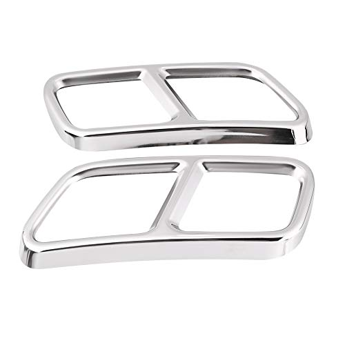 Akozon Exhaust Muffler Cover Pair Rear Exhaust Pipe Cover Decorative Trims for Mercedes Benz GL X166 13-15 S R Class W222 W251 - Benz Mufflers Mercedes Rear