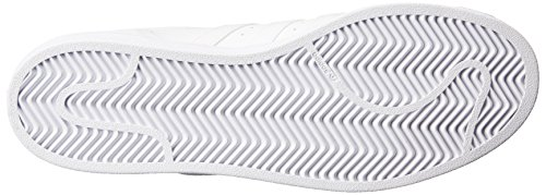 Adidas Originals Women's Superstar Foundation Casual Sneaker,  White/White/White,  8.5 M US