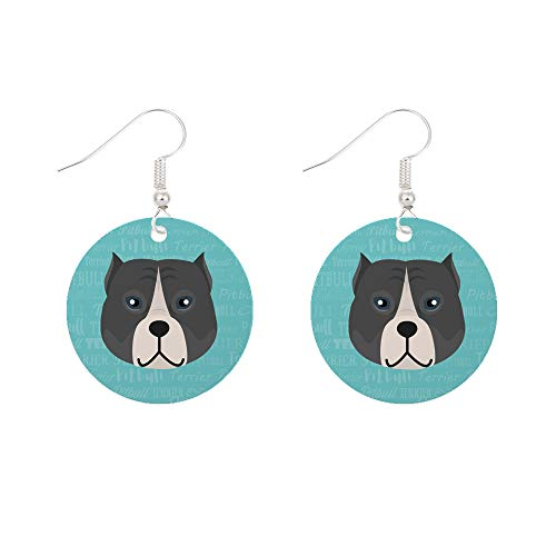Mystic Sloth Dog Breed Specific Surgical Steel Fishhook Earrings (Pitbull)