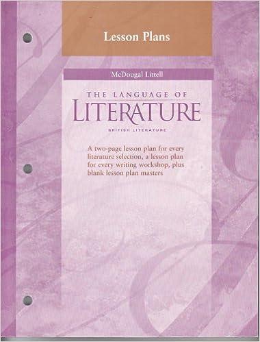 intro to british literature lesson plans