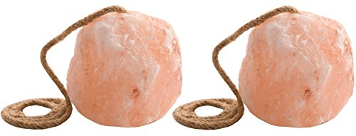 Rock Salt Lick - Himalayan Rock Salt (2 Pack) Lick On A Rope for Horses