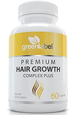 Premium Hair Growth, Scientifically Proven, Makes Your Hair Look Gorgeous & Beautiful, Thicker And Shinier, Stronger and Healthier. Made in the USA. Hair Loss Products For Woman and Men.