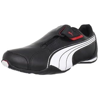 PUMA Men's Redon Move Lace-Up Fashion Sneaker, Black/White/High Risk Red, 10 M US