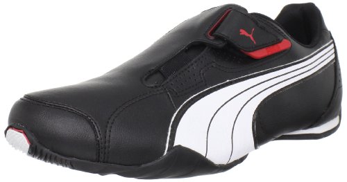 PUMA Men's Redon Move Lace-Up Fashion Sneaker, Black/White/High Risk Red, 8.5 M US