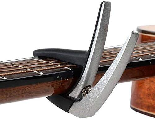 1 PC de plata aleación de aluminio de la guitarra Cejillas for acústicas eléctricas o accesorios de las piezas de guitarra