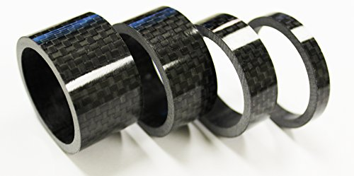 The Flying Wheels 4pc Bike Bicycle Full Carbon Spacer 1-1/8