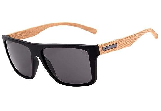 1ab77c8f5 Óculos de Sol Hb Floyd 9011773100/60 Preto Fosco Efeito Amadeirado ...