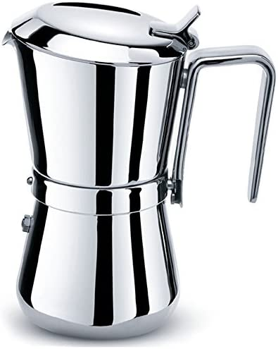 Carlo Giannini Cafetera de acero inoxidable de 3 o 6 tazas con caja de engranajes: Amazon.es: Hogar