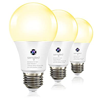 Sengled Motion Sensor Light Bulb, Motion Activated Light Bulb LED Motion Sensor, Auto On/Off Security Light Bulb Soft White 2700K, A19 Bulb 60W Equivalent, Indoor Use, 4 Pack